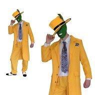 Herren 90er Abendkleid Maske Jim Carrey Outfit (Männer: (Outfit Männer Piraten)