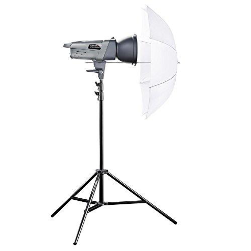 Walimex Pro VE-300 Excellence Einsteiger Studio-Set (Studioblitz 300Ws, Lampenstativ, Durchlichtschirm)