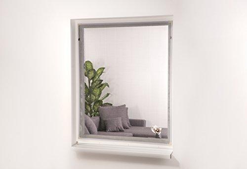 hecht international 101320201-VH EASY Magnet-Fliegengitter Fenster, weiß, 130x150 cm