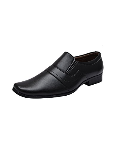 Sir Corbett Men's Black Synthetic Slip On Formals Shoes
