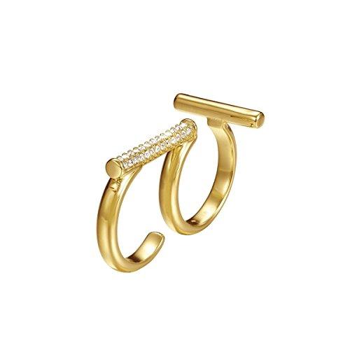Joop! Damen-Ring Edelstahl Zirkonia weiß Rundschliff Gr. 56 (17.8) - JPRG00006B180
