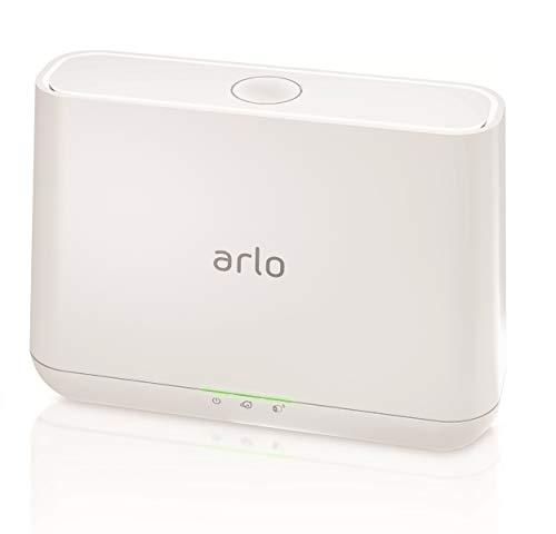 Arlo VMB4000 Basisstation (offiziell, geeignet für Arlo HD, Pro und Pro 2 Sicherheitskameras, Intelligente 100 Dezibel Sirene und mögliche lokale Speicherung via USB Port) weiß