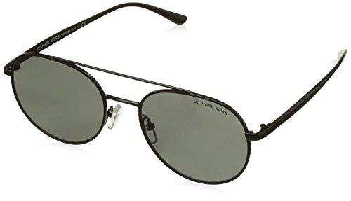 Michael Kors Damen LON 11696G 53 Sonnenbrille, Black/Gunmetalmirror