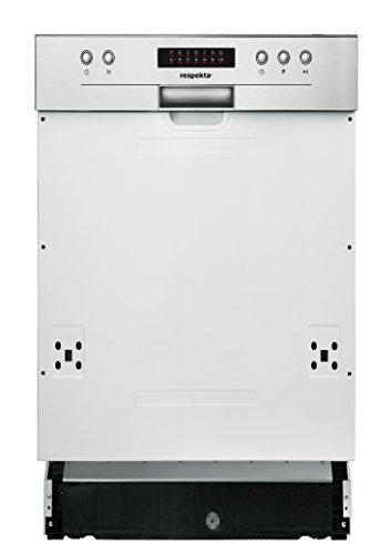 Respekta Lave-vaisselle Lave-vaisselle semi-encastrable 45cm eekl A + + avec Aqua Stop & écran LED