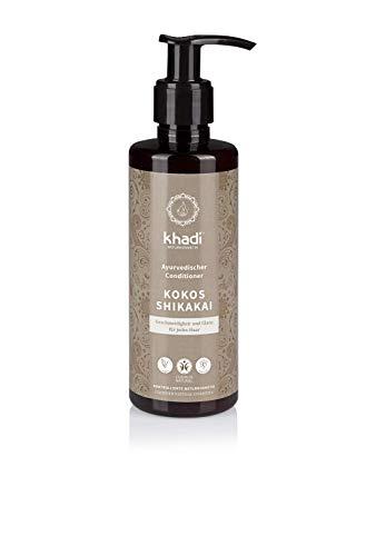 khadi Conditioner Kokos Shikakai 200ml I natürliche Haar-Pflege für jedes Haar I vegane Haar-Kur zur täglichen Anwendung Naturkosmetik ohne künstliche Zusätze