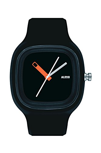 Alessi - AL10010 - Montre Mixte - Automatique - Analogique - Bracelet Plastique Noir