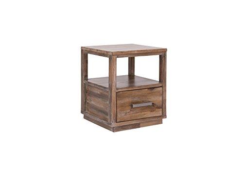 Woodkings® Nachttisch Woodville Akazie Rustic Schlafzimmer Massivholz Beistelltisch Nachtkommode Design Massive Naturmöbel Echtholzmöbel günstig