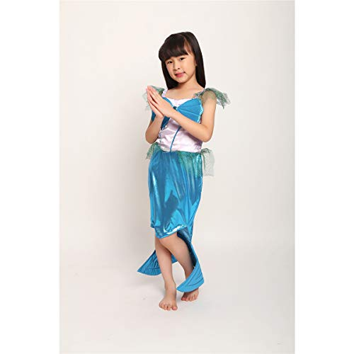 Kostüm Ariel Mädchen Baby - HJ&WL Meerjungfrau Kostüm Mädchen Kleid Kinder Ariel Kostüme Prinzessin Kleider Abendkleid Halloween Cosplay Verrücktes Kleid Geburtstag Party Ankleiden