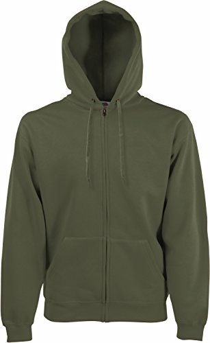 Fruit of the Loom Hooded Sweat-Jacket, Classic Olive, L