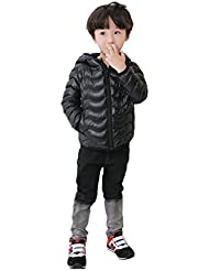 vlunt Niños chaqueta de plumón abrigo ligero duenn plumas Joven maedchen Down Jacket–Chaqueta de invierno con capucha