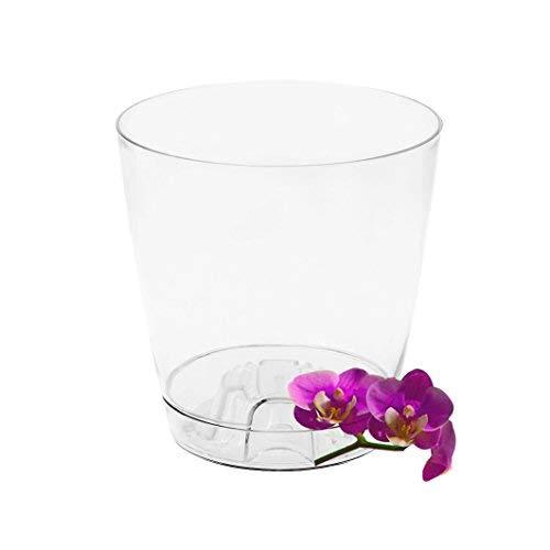 Garden4You - Maceta de orquídeas con platillo (17, Blanco)