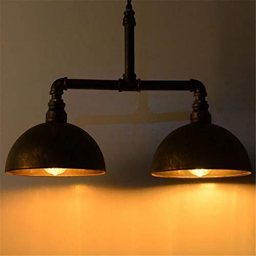 Lampadario moderno lampadario a sospensione a due luci con lampada a sospensione in metallo lampadario a sospensione in ferro battuto vintage steampunk
