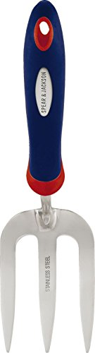 Spear & Jackson 3053EL/09 Unkrautgabel Select aus Edelstahl, silber (Rot Hat Unkraut)