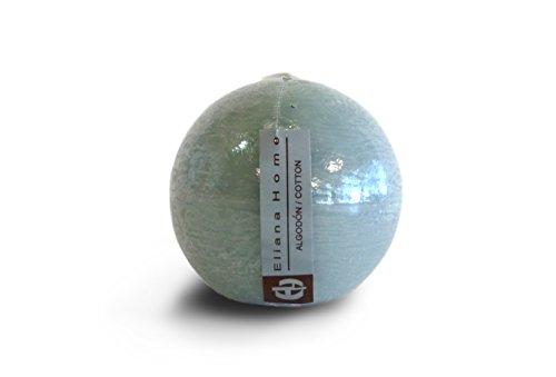 Eliana Home Vela esférica algodón, 7.5 cm, Cera, Gris, 7.50x7.50x7.00 cm