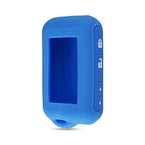 SUNQQB KEYYOU Silikonhülle Schlüsselabdeckung Für Starline E90 E63 E91 E61 E95 E66 E60 LCD Zweiwegautowarnungsfernfall Keychain Sender,Blue E63 Lcd