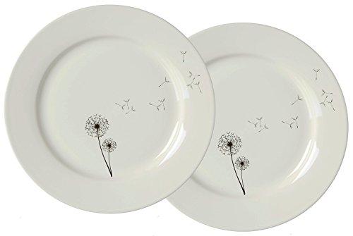 Ritzenhoff & Breker Magique de série Désir Fleurs, Porcelaine, Noir/blanc, 20.5 x 20.5 x 2 cm