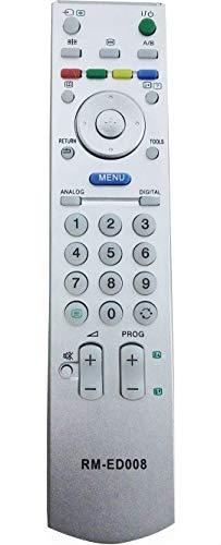 allimity Sostituire il Telecomando RM-ED008 apto para Sony TV KDL-32S2510 KDL-32S2520 KDL-40S2510 KDL-40S2530 KDL-40V2900 KDL-40W2000 KDL-46S2510 KDL-46V2500 KDL-46W2000 KDL-S2520 RMED008