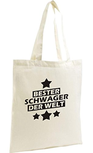 Shirtstown Shopping Bag Organic Zen, Shopper bester Schwager der Welt, natur