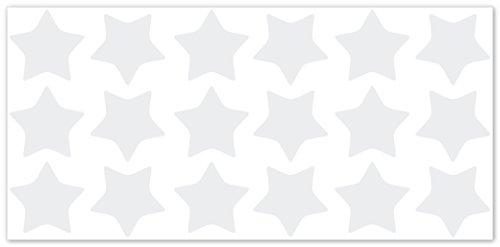 Wandfabrik   Fahrradaufkleber 18 Sterne In Weiß   Wandtattoo Geeignet Als  Dekoration Klebefolie Wandbild Wanddeko Tiere