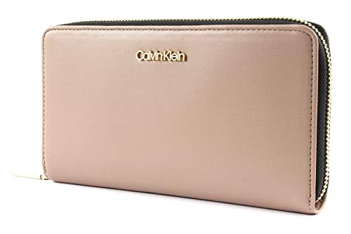Calvin Klein Fold Large Zip Around Wallet Tobacco - Fold Wallet