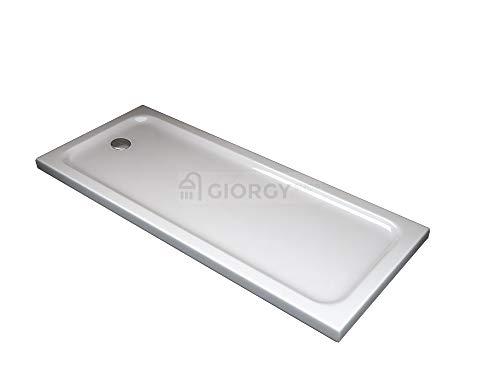 PIATTO DOCCIA ABS H 5CM SLIM FLAT BOX CABINA DOCCIA CURVO QUADRATO RETTANGOLARE (70X170 H 5)