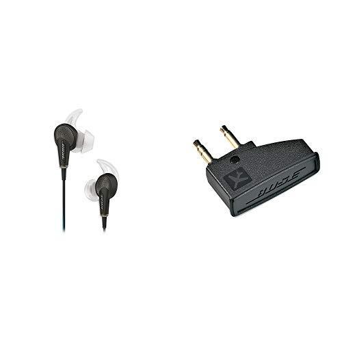 Acoustic Noise Cancelling Kopfhörerfür Samsung und Android Gerät schwarz & Bose ® Airline-Adapter für Bose ® QuietComfort 3 ()