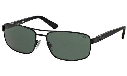 Ralph Lauren Polo Lunettes de soleil 3086 Pour Homme Matte Black / Grey / Green