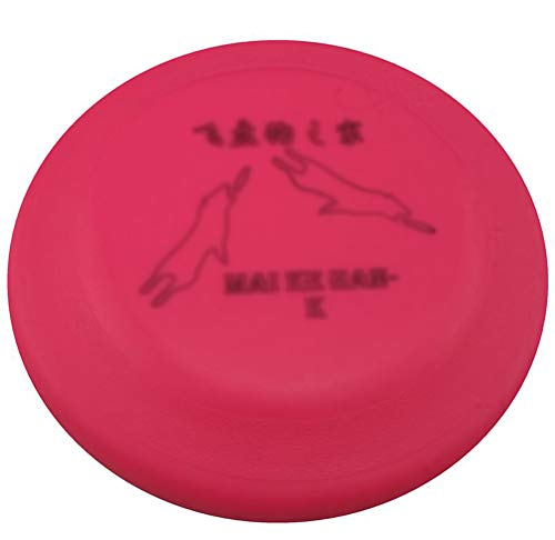 Dafang Scheibe Hund, Silikon Hundespielzeug Frisbee Trainingsübung Wurfscheibe Fliegende Fetch Spielzeug Für Hund Disc Flyer Hundespielzeug,Pink -