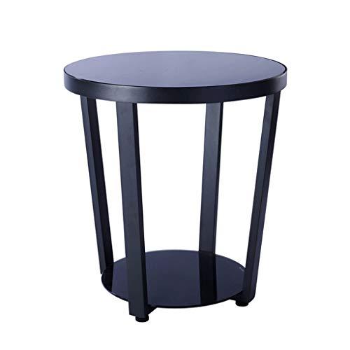 Beistelltische Teetisch Einfaches Sofa-Seitenschrank Wohnzimmer Balkon Runder Eisentisch aus Eisen