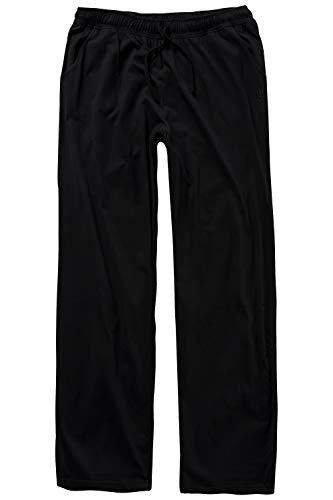 JP 1880 Herren große Größen bis 8XL, Pyjama-Hose aus 100{4a0f8193a855137f091bbceff949b0a7ba32f5cf86a10e01b9b6a384cab6477e} Baumwolle, Schlafanzug-Hose, Sweatpants mit elastischem Bund schwarz 6XL 708406 10-6XL