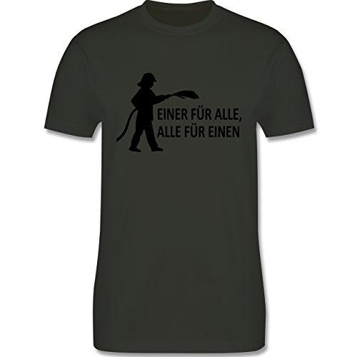 Feuerwehr - Einer für alle, alle für einen - Herren Premium T-Shirt Army Grün