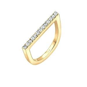 Elli Damen Ring 925 Sterling Silber Swarovski Kristalle