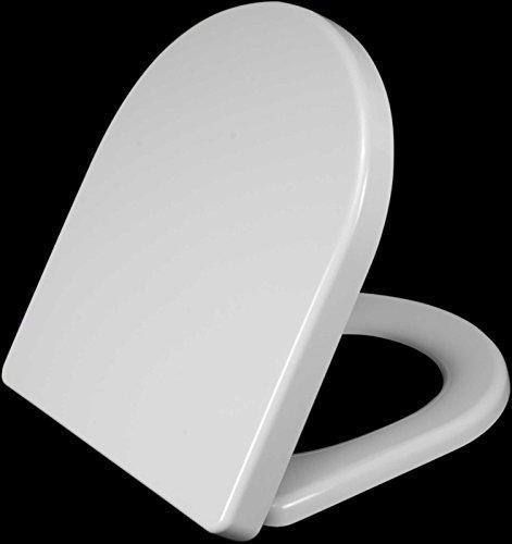 Softclose WC Sitz weiß Bad Heavy Duty mit Edelstahl Scharniere (Sitz Saver)