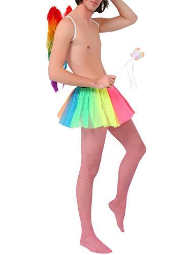 Islander Fashions Ladies Rainbow Fairy Angel Stag Do Disfraz Mujeres Fancy Party Outfit Conjunto Completo Un Tama�o