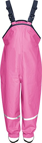 Playshoes Rain Dungarees Waterproofs Easy Fit Girl's Trousers Pink  Size 92