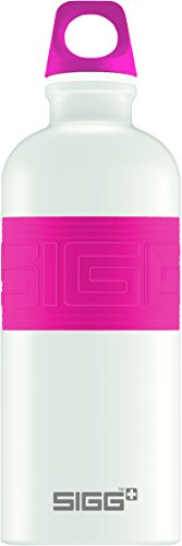 Sigg Pink Trinkflasche (SIGG CYD Pure White Touch Pink, 0.6 L, Trinkflasche, weiß/pink)