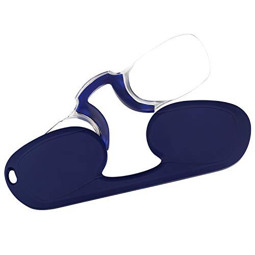 ebf6b5519c Aroncent Gafas de Lectura Lentes Plegable sin Patilla Portátil Ligero Claro  Protector Ojos Profesional Clip de