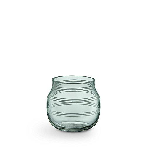 Preisvergleich Produktbild Kähler - Teelichtleuchter / Teelichthalter - Omaggio - Glas - grün - Höhe 7, 5 cm