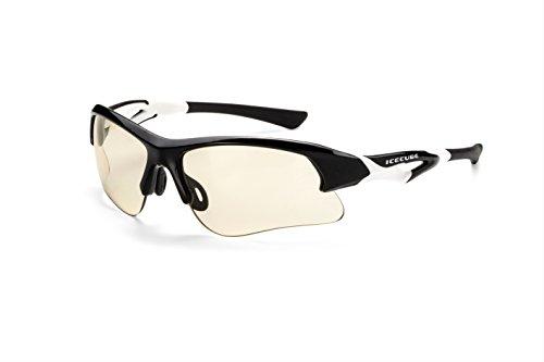 Icecube Photochrome Sonnenbrille TRIDENT   Superleichte Sportbrille, individuell anpassbar mit phototropen Scheiben aus hightech-Material, mit festem Etui und Microfaserbeutel F6271066