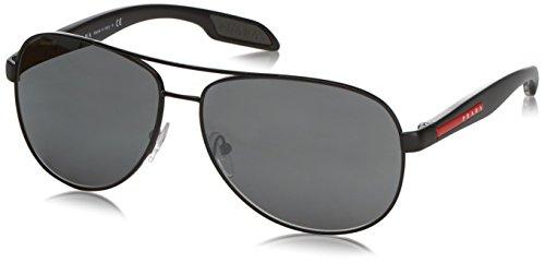 Prada Sport Herren Mod. 53Ps Sole Aviator Sonnenbrille, 1Bo7W1 (Pradas Für Männer)