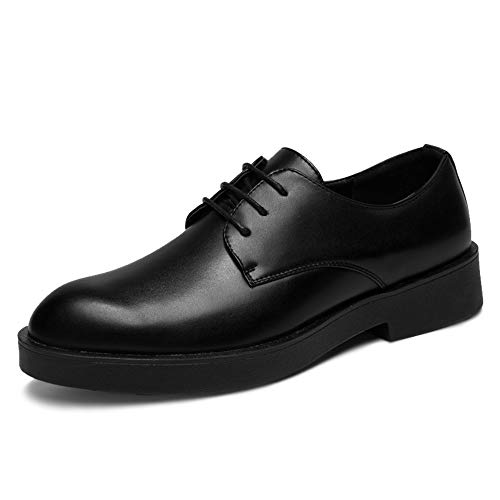 Apragaz Herrenmode Oxford Schuhe Casual Classic Simple Business Style Schuhe Laufsohle Komfortable Formelle Schuhe (Color : Schwarz, Größe : 41 EU) Black Leather Simple Pumps