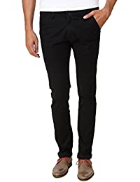 Men In Class Black Chinos Pants For Men Stretchable Slim Fit