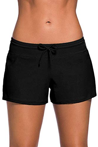 Leslady Pantalones Cortos de natación para Mujer Bañador Short Deportes Acuáticos Shorts de Natación...