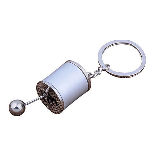 Doitsa Auto-Schlüsselanhänger Gangschaltung Anhänger Schlüsselbund Männer und Frauen Schlüsselbund Zink Legierung Schlüsselhalter Gepäck Zubehör Silber