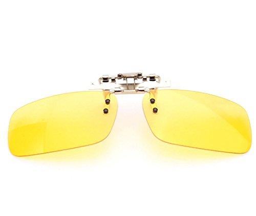 Juscycling Polarisierte Sonnenbrille zum Anklipsen für Brille, zum Fahren, Radfahren, Nachtsicht, Anti-UVA, UV-B, Unisex, Night Vision