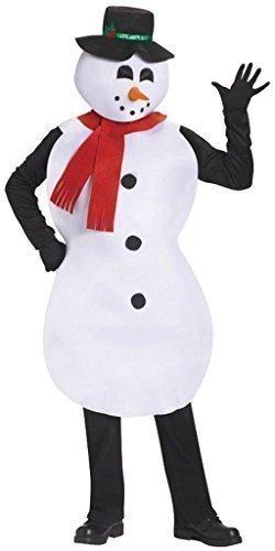 Damen oder Herren Erwachsene Jolly Schneemann Weihnachtskostüm - Schneemann Tunika Kostüm Für Erwachsene