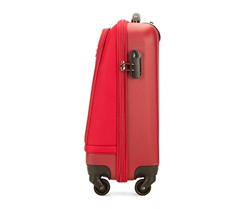 Red Vertical Stripes Design Travel Suitcase Protector Anti-scratch Washable Dust Thicken Elasticity Cover Travel Luggage Cover