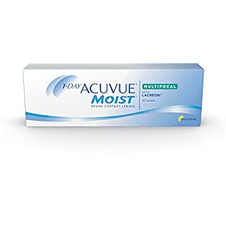 Acuvue 1-Day Moist Multifocal Tageslinsen weich, 30 Stück / BC 8.4 mm / DIA 14.30 / ADD LOW / 1.75 diopters
