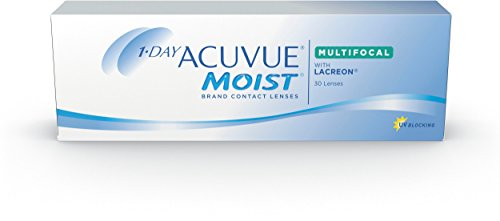 Acuvue 1-Day Moist Multifocal Tageslinsen weich, 30 Stück / BC 8.4 mm / DIA 14.30 / ADD MED / -0.5 diopters