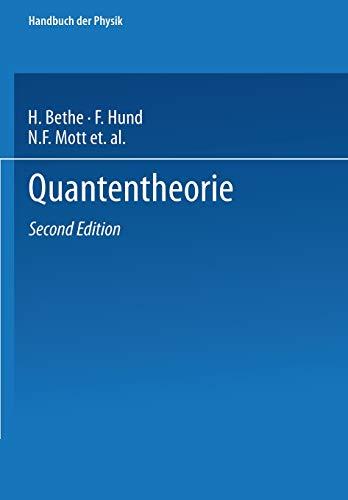 Quantentheorie (Handbuch der Physik, Band 24)